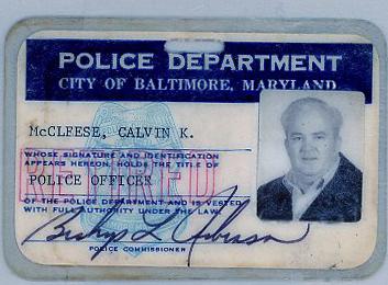 Calvin McCleese093 olice id