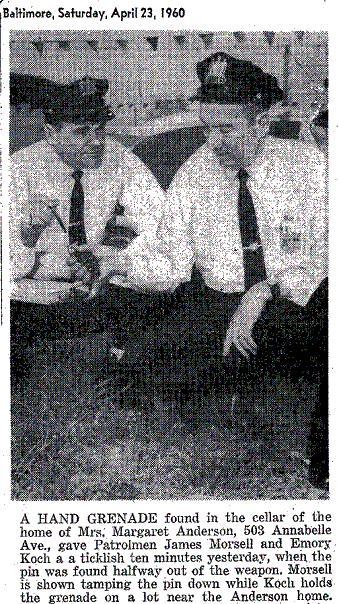 Hand Grenade April 23 1960