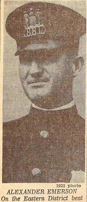 Officer Alexander Emerson ED 1923