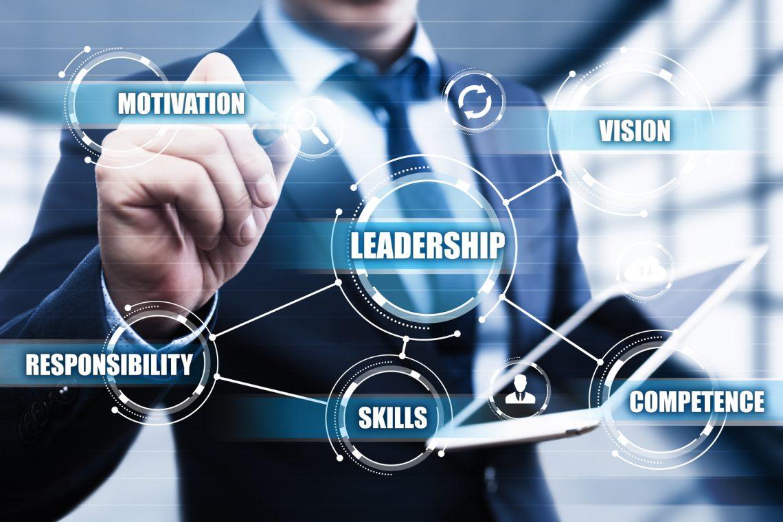 Leadership Business Management Teamwork Motivation Skills concept